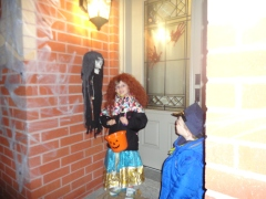 Abby & Aiden on their way out to trick or treat