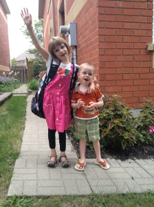 Abby & Aiden on the first day of Grade 1 for Abby