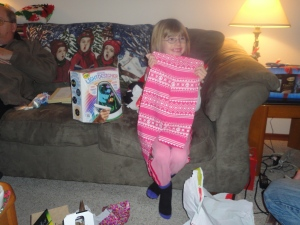 Abby with Aunt Julie's Gift