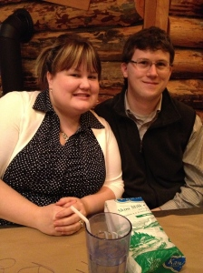 Megan & Shawn at Montana's. Aren't they cute!!!