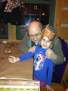 Grandpa & Abby at Montana's.