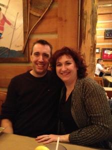 Melissa & Peter at Montana's. Aren't we cute!!!