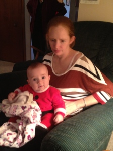 Julie with Macklan at his first Christmas.