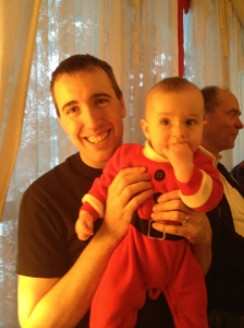 Uncle Peter with nephew Macklan.