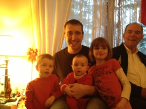 Peter & Craig with Aiden, Macklan & Abby.