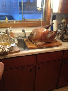 The 27lb turkey courtesy of Uncle Joe.