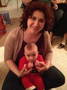 Melissa with her nephew Macklan.