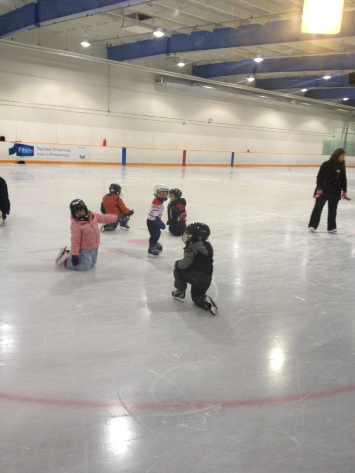 Aiden standing on the ice