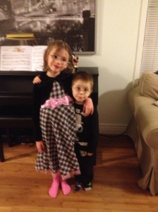 Abby & Aiden ready to party