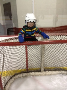 Aiden hanging out on the net at the Douro Arena