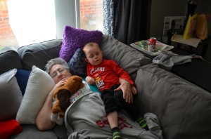 Mama having an afternoon nap with Aiden...Mama did most of the napping!!