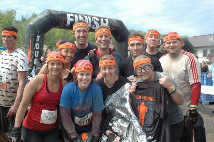 Post-Race Picture: Brian, Doug, Chris, Melanie, Keli, Julie, Brenda's firend, Brenda, Tim (???) and Peter