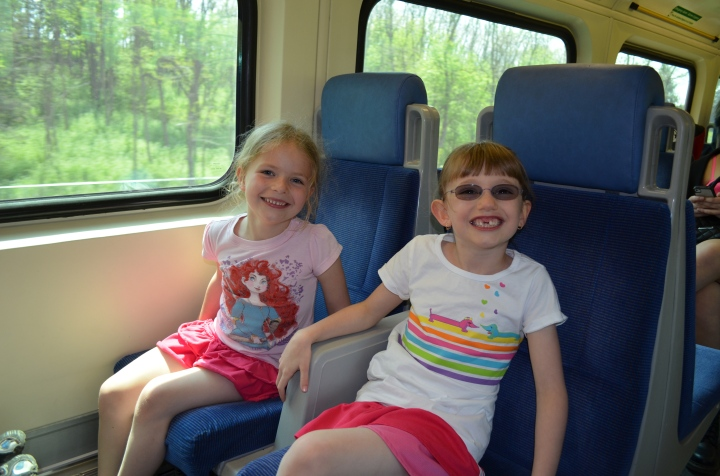 Ava & Abby on the Go Train