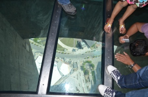 Pic of the glass floor at the CN Tower