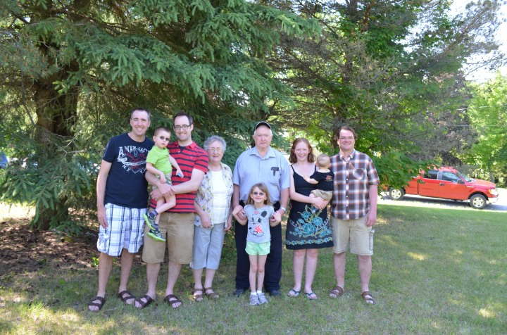 Peter, Aiden Rob, Mom, Dad, Abby, Julie, Macklan, & Peter