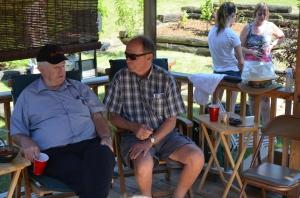 Bernard & Craig visiting.