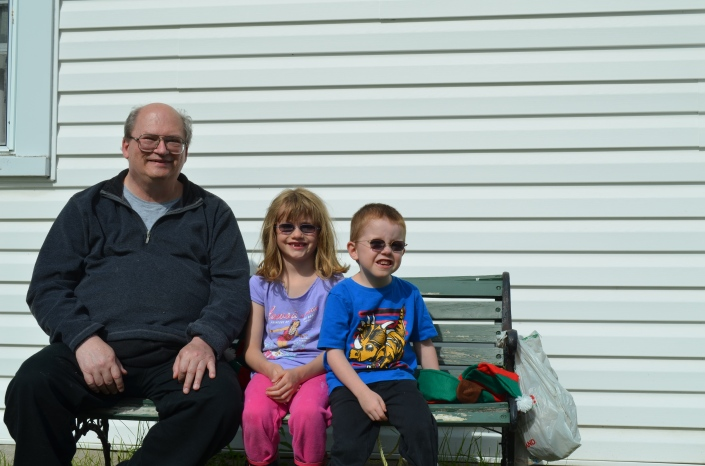 Bruce with Abby & Aiden