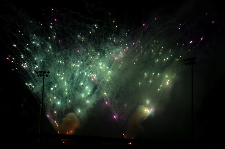 Some of the fireworks from the park.
