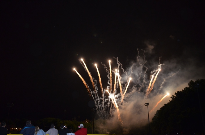 Fireworks from the park.
