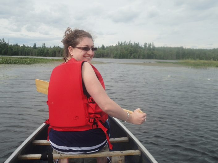 Melissa going for canoe ride