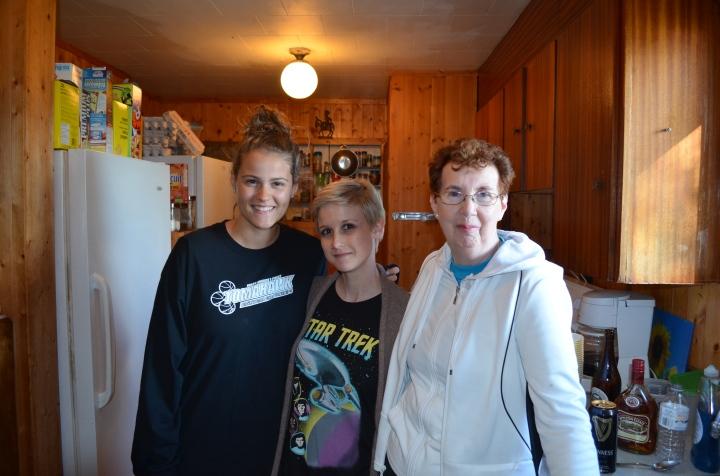 Stephanie, Shauna, Jackie