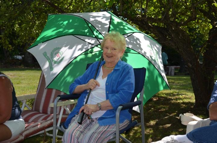Aunt Dorothy enjoying the games