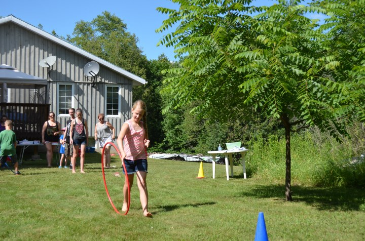 Ava rolling the hoola hoop