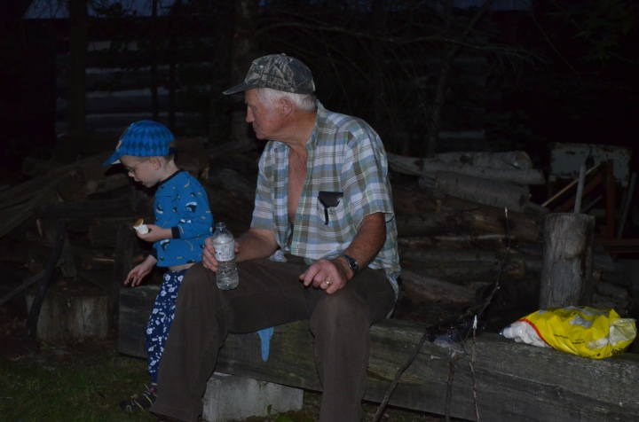 Aiden with Great Uncle Sam