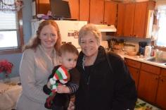 Julie with Macklan & Aunt Barb
