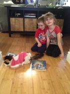 Aiden & Abby with Molly just before she was put down