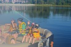 Kids getting on board Pirate Cruise