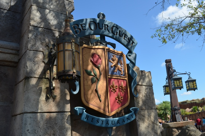"Sign outside ""Be Our Guest Restaurant"""