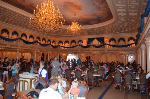 "Inside ""Be Our Guest Restaurant."""