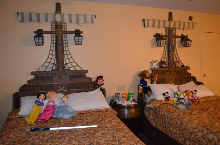 The toys arranged in our room when we returned at the end of the day