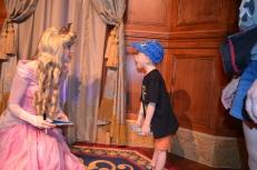Aiden surprised by Princess Aurora.