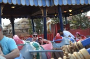 Mommy and Abby riding Dumbo ride