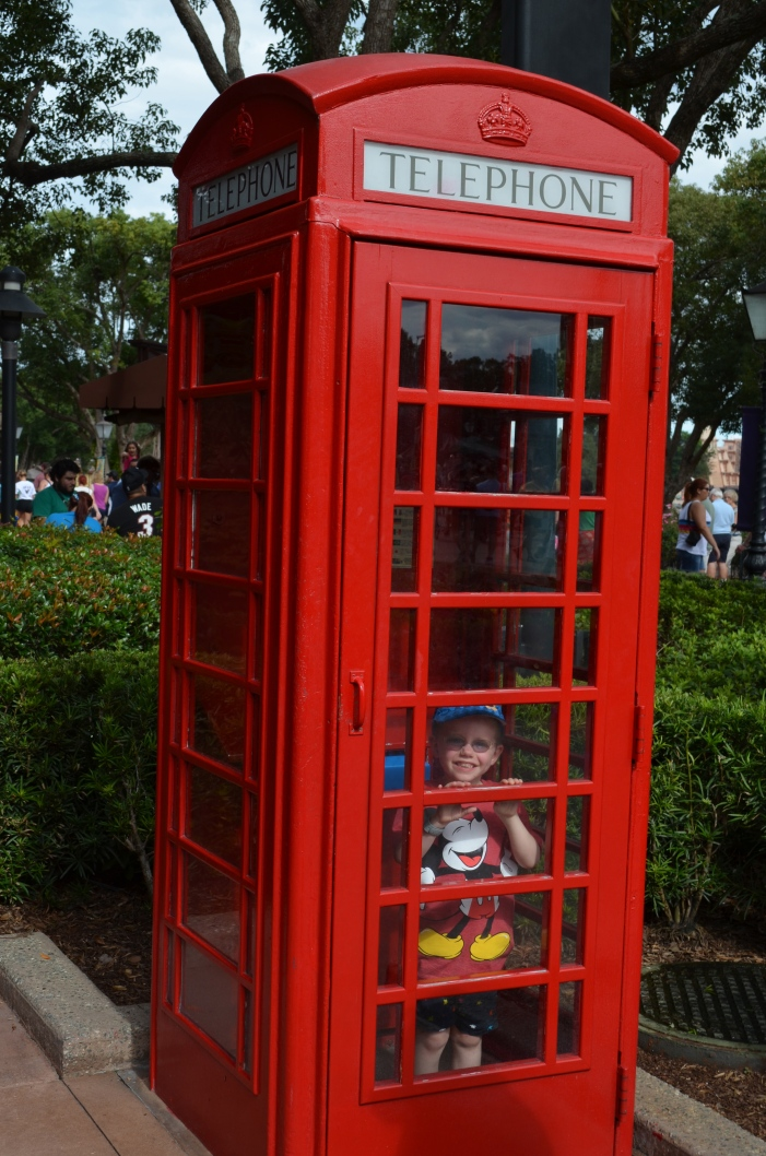 Making a call in the London section