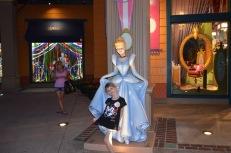Cinderella outside Disney Store