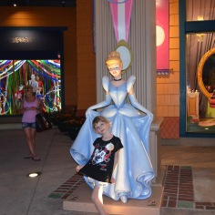 Cinderella outside Disney Store