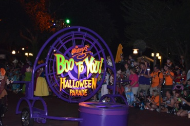 Watching Mickey's Boo To You Halloween Parade