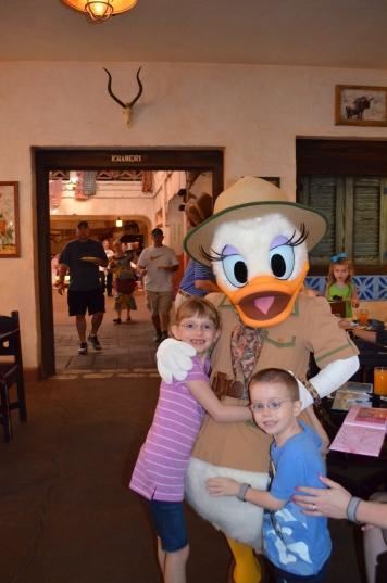 The kids with Safari Daisy