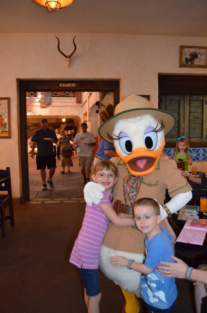 The kids with Safari Daisy