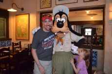 Peter and Abby with Goofy
