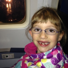 Abby on the plane