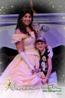 Abby with Belle at Belle's Storytime