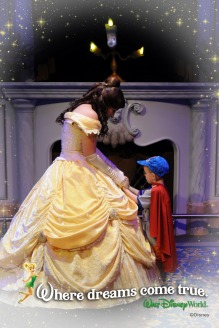 Aiden with Princess Belle