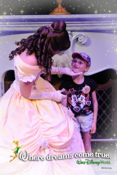 Abby with Princess Belle