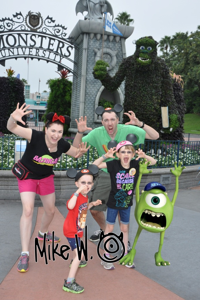 The family with Mike Wazowski