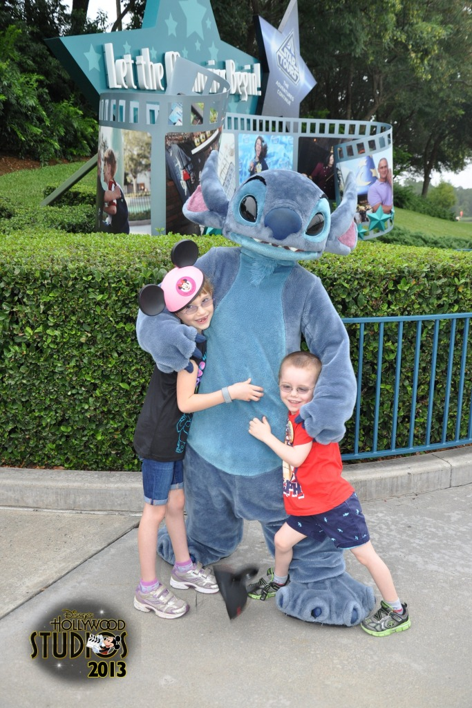 Abby and Aiden with Stich