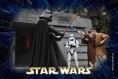 Abby fighting Darth Vader